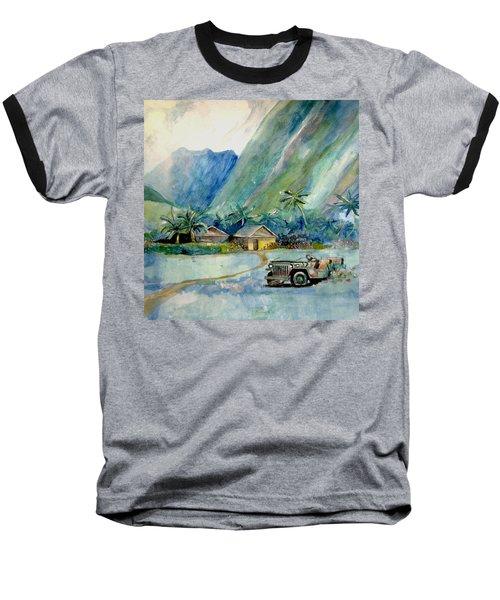 Olowalu Valley Baseball T-Shirt by Ray Agius