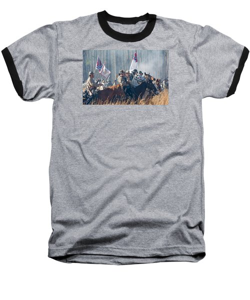 Olustee Confederate Charge Baseball T-Shirt by Kenneth Albin