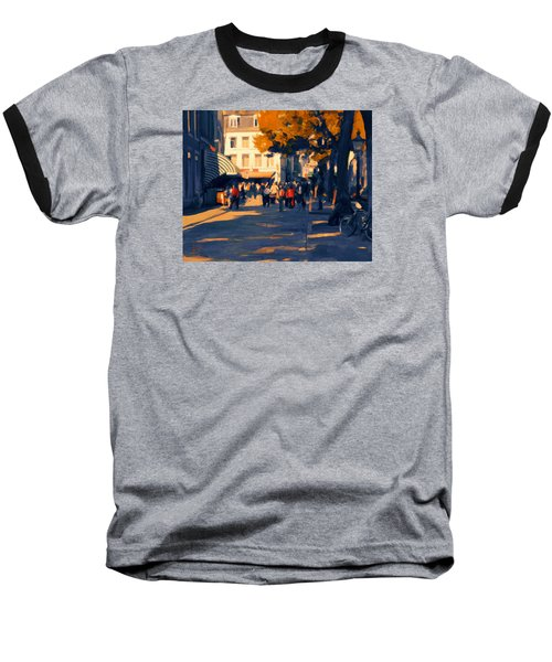 Baseball T-Shirt featuring the painting Olv Plein Maastricht In Autumn by Nop Briex