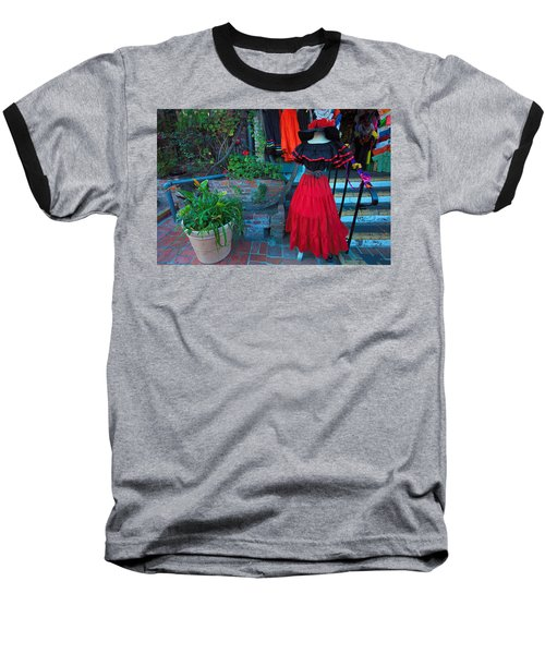 Olvera Street Los Angeles Baseball T-Shirt