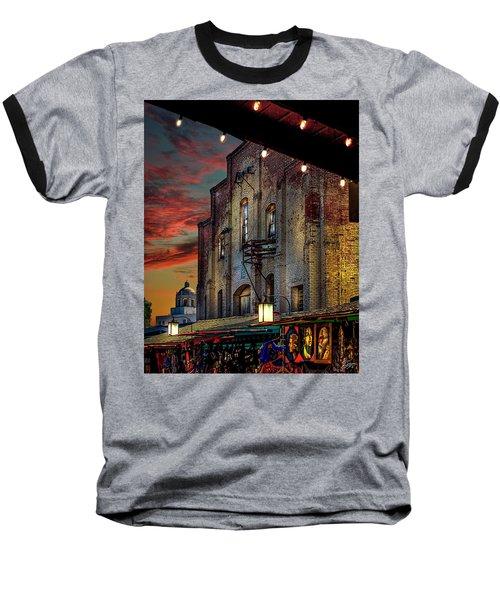 Olvera Street Market Baseball T-Shirt