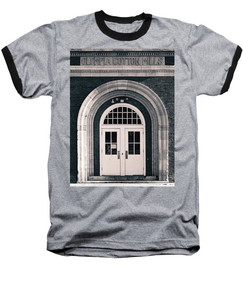 Olympia Cotton Mills Entrance B W 1 Baseball T-Shirt
