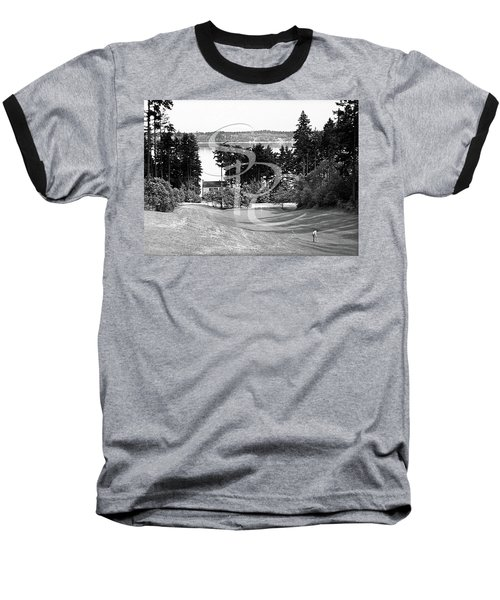 Baseball T-Shirt featuring the photograph Olympia Country Club 18th Hole by Merle Junk