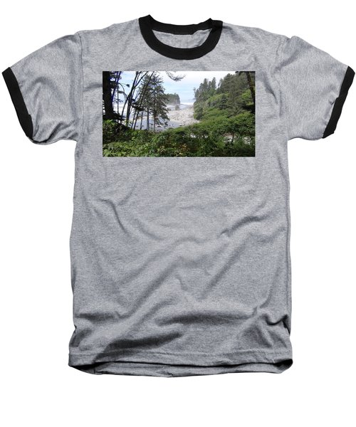 Baseball T-Shirt featuring the photograph Olympic National Park Beach by Tony Mathews