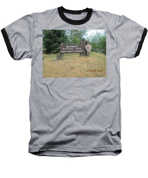 Baseball T-Shirt featuring the photograph Olympic Park Sign by Tony Mathews