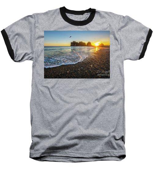 Baseball T-Shirt featuring the photograph Olympic Peninsula Sunset by Martin Konopacki