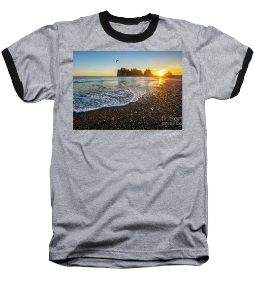 Olympic Peninsula Sunset Baseball T-Shirt