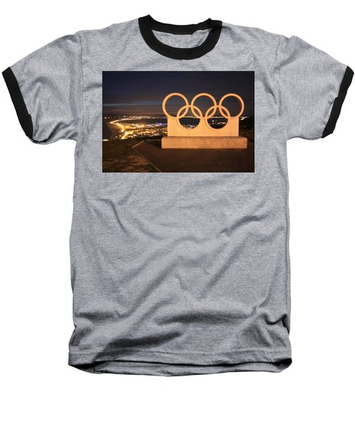 Olympic Rings Portland  Baseball T-Shirt