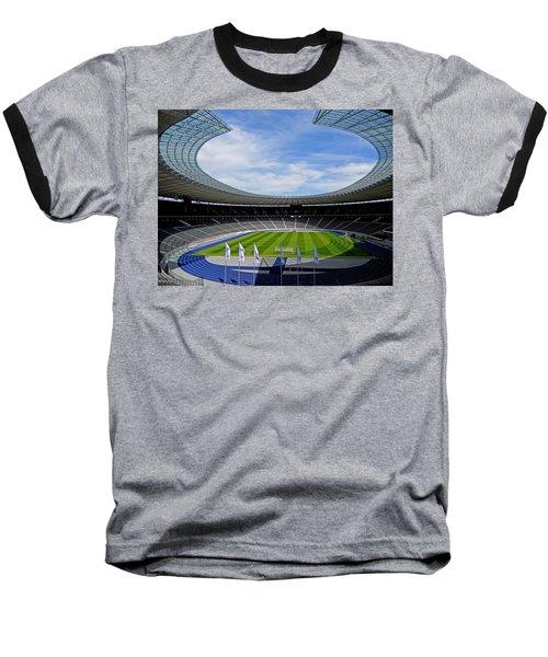 Olympic Stadium Berlin Baseball T-Shirt by Juergen Weiss