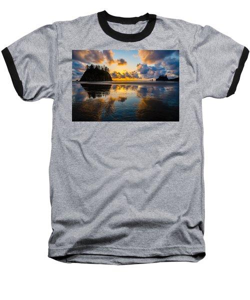 Olympic Sunset Glow Baseball T-Shirt