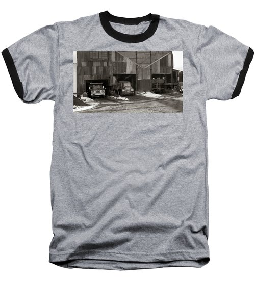 Olyphant Pa Coal Breaker Loading Trucks And Gondola Car Winter 1971 Baseball T-Shirt