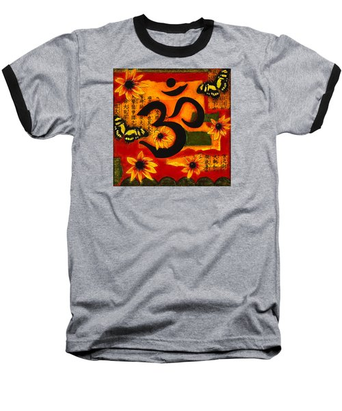 Om Baseball T-Shirt by Gloria Rothrock