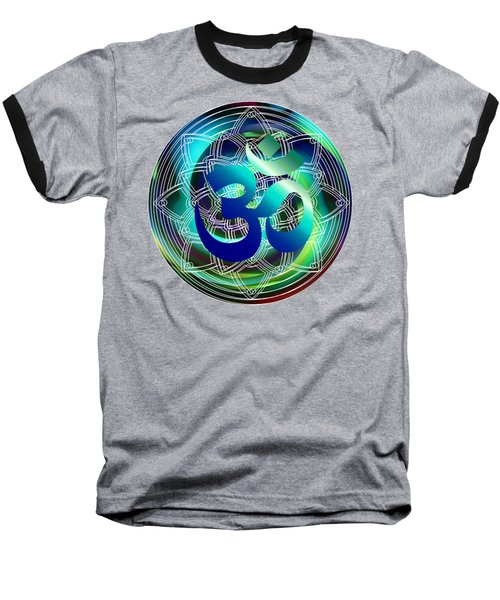 Baseball T-Shirt featuring the digital art Om Vibration Ocean by Robert G Kernodle