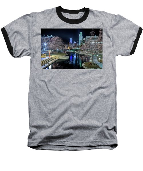Omaha Holiday Lights Festival Baseball T-Shirt