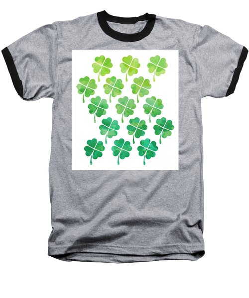 Ombre Shamrocks Baseball T-Shirt by Whitney Morton