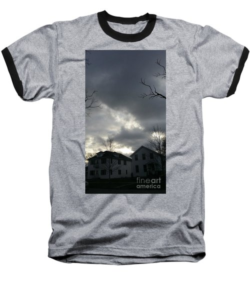 Ominous Clouds Baseball T-Shirt