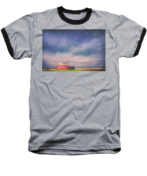 Ominous Clouds Over The Aggie Barn In Reagan, Texas Baseball T-Shirt