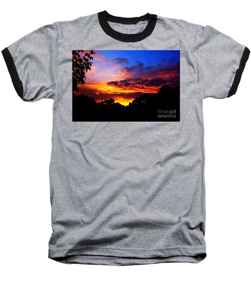 Ominous Sunset Baseball T-Shirt