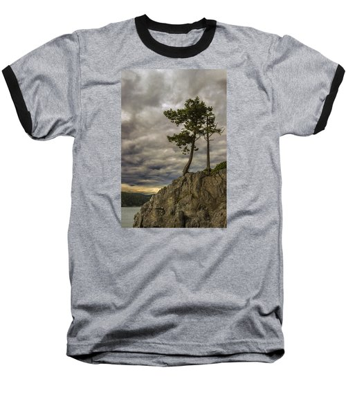 Ominous Weather Baseball T-Shirt by Ed Clark