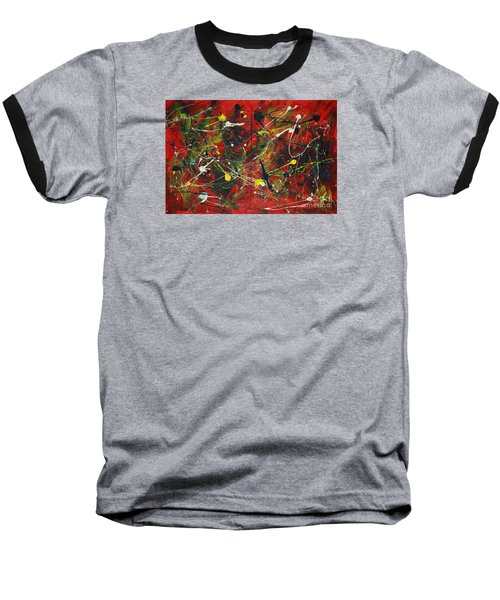 Baseball T-Shirt featuring the painting On A High Note by Jacqueline Athmann