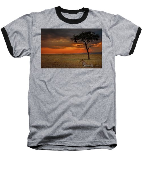 On A  Serengeti Evening  Baseball T-Shirt