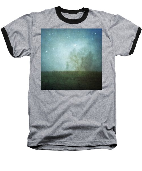 On A Starry Night, A Boy And His Tree Baseball T-Shirt