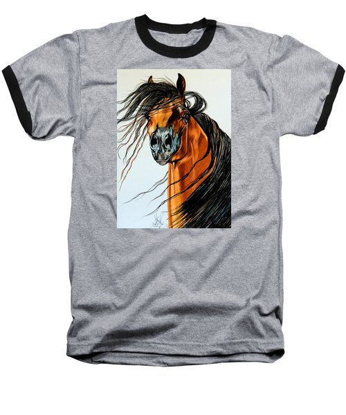 On A Windy Day-dream Horse Series #2003 Baseball T-Shirt