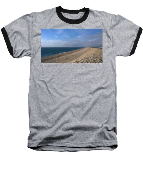 On Chesil Beach Baseball T-Shirt by Anne Kotan