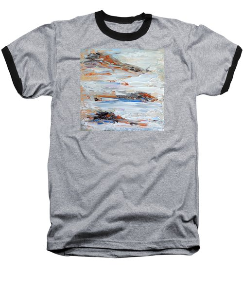 Baseball T-Shirt featuring the painting On Da Rocks by Fred Wilson