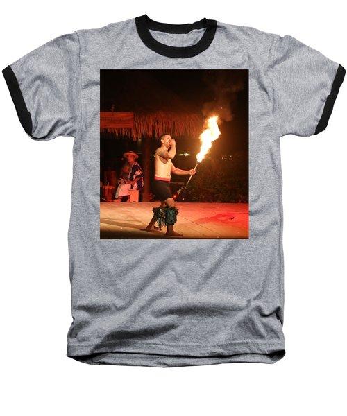 On Fire In Tahiti Baseball T-Shirt