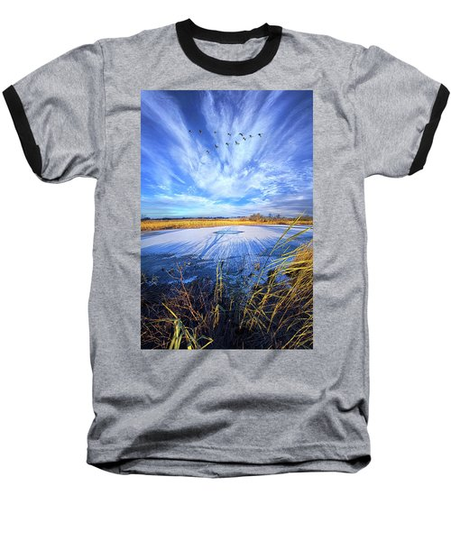 Baseball T-Shirt featuring the photograph On Frozen Pond by Phil Koch