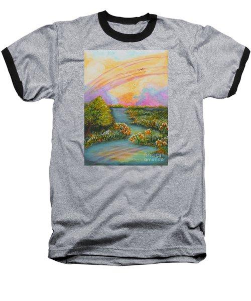 On My Way Baseball T-Shirt by Holly Carmichael