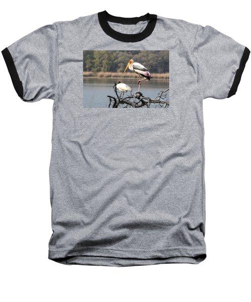 On One Leg Baseball T-Shirt
