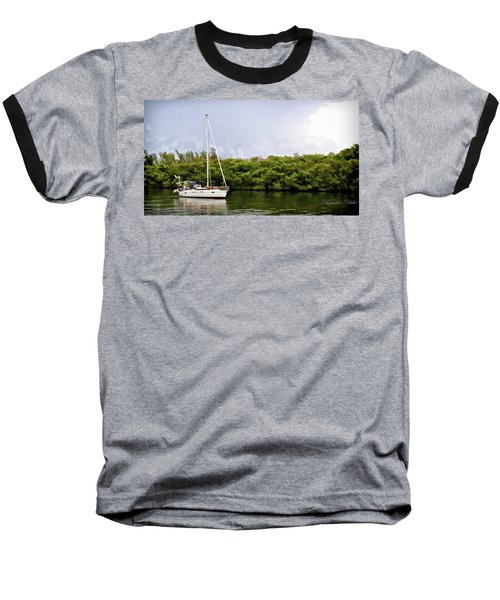 On Quiet Waters Baseball T-Shirt