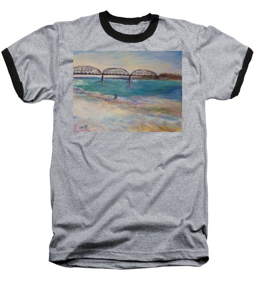 On The Bank Baseball T-Shirt by Helen Campbell