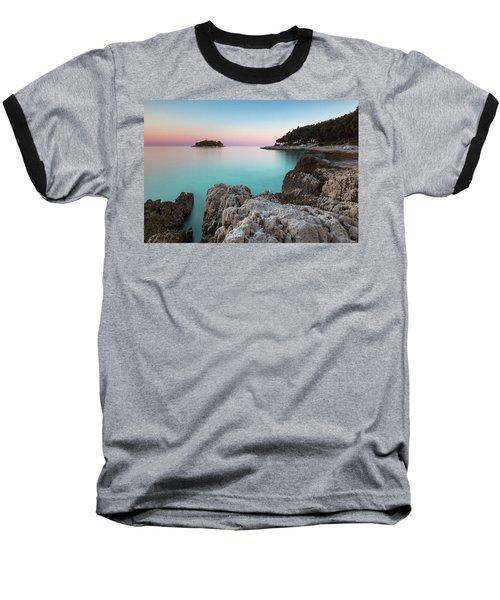 On The Beach In Dawn Baseball T-Shirt