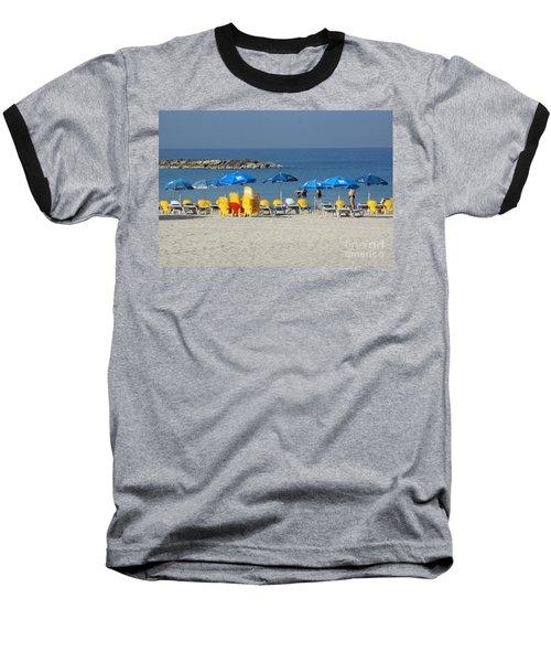 On The Beach-tel Aviv Baseball T-Shirt