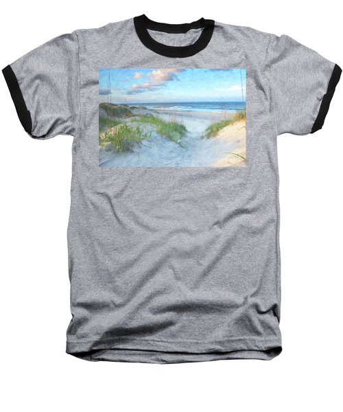 On The Beach Watercolor Baseball T-Shirt