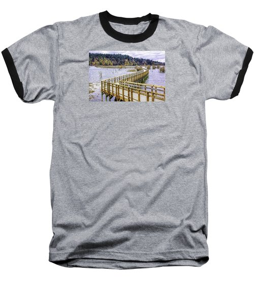 On The Boardwalk  Baseball T-Shirt by Jean OKeeffe Macro Abundance Art