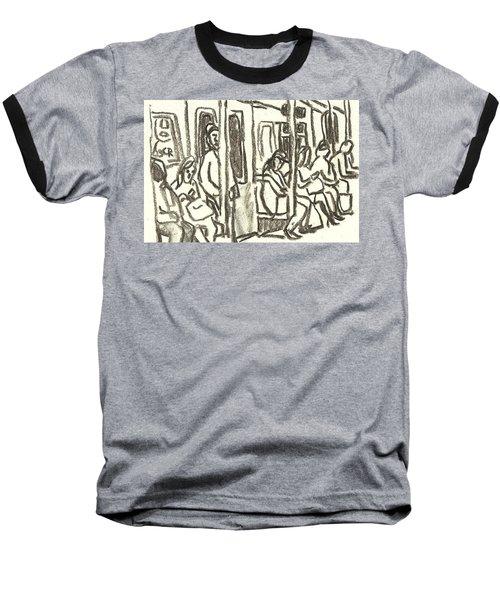 On The C Train, Nyc Baseball T-Shirt