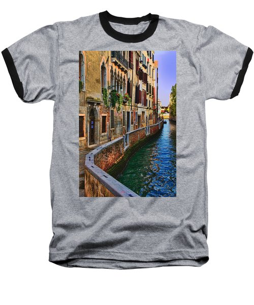 On The Canal-venice Baseball T-Shirt