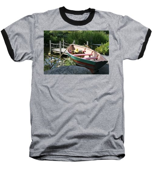 On The Dock Baseball T-Shirt by Lois Lepisto