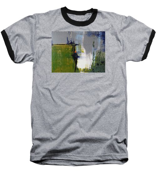 On The Edge Baseball T-Shirt by Becky Chappell