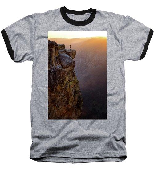 On The Edge Baseball T-Shirt by Nicki Frates