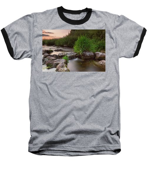 On The Edge Of Time Baseball T-Shirt