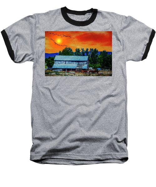 On The Farm II Baseball T-Shirt by Billie-Jo Miller