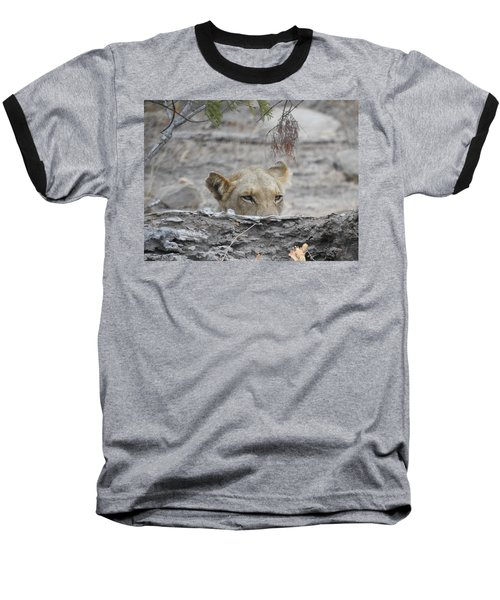 Baseball T-Shirt featuring the photograph On The Lookout by Betty-Anne McDonald