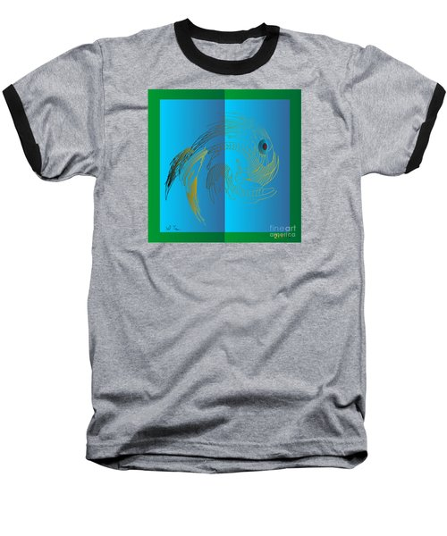 Baseball T-Shirt featuring the digital art On The Page 2015 by Leo Symon