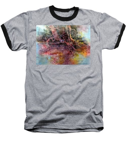 Baseball T-Shirt featuring the painting On The Peninsula by Carolyn Rosenberger