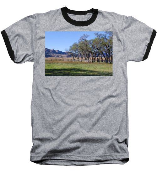 Baseball T-Shirt featuring the photograph On The Ranch by Ely Arsha